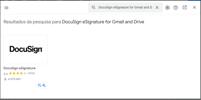 Assinar documento no google doc