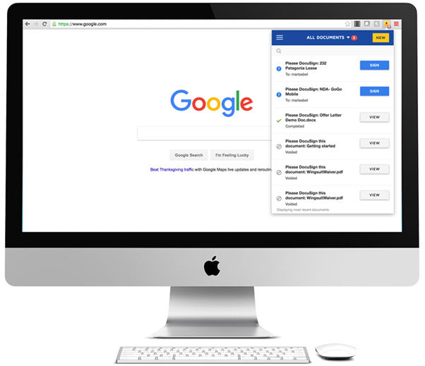 Extensão do DocuSign para Chrome