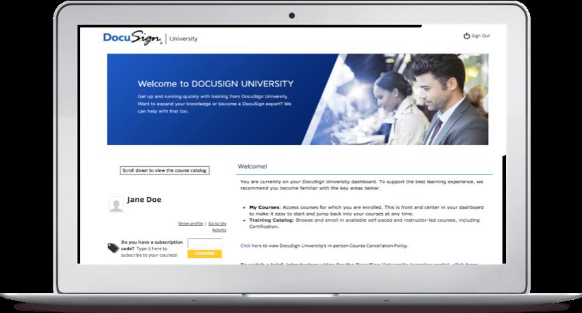 DocuSign University Learning Portal