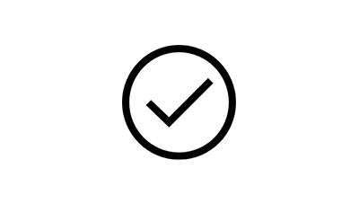 Ícone de um sinal de visto dentro de um círculo