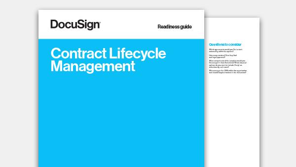 Baixe o guia de prontidão de gerenciamento do ciclo de vida de contratos (CLM)