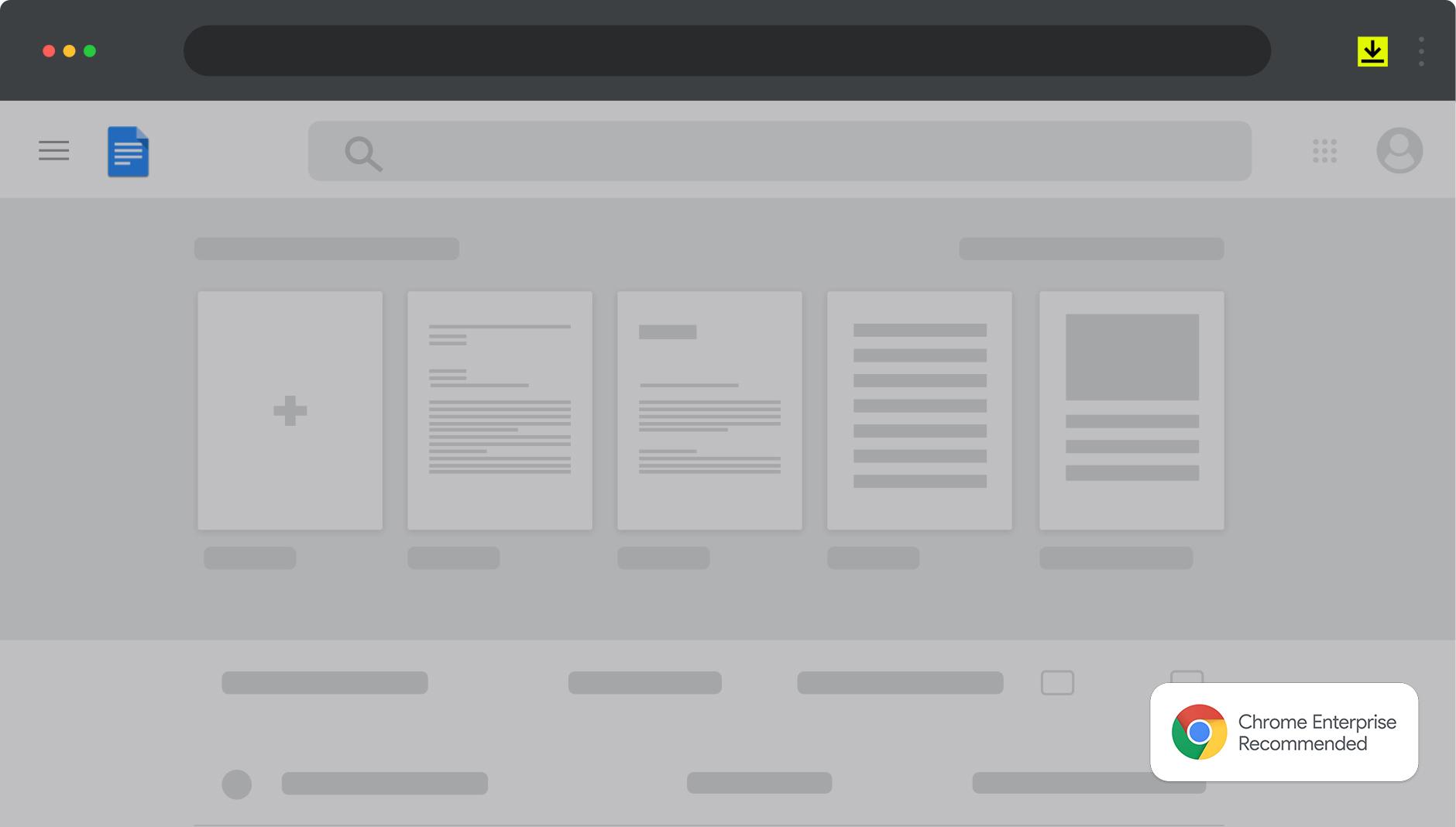 : Assinatura eletrônica da DocuSign para Google Chrome permitindo a assinatura no navegador. O logo do Google Chrome faz parte do selo Enterprise Recommended Partner que a DocuSign recebeu.