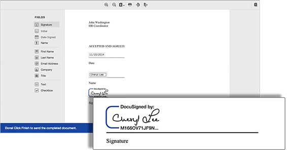 Drag and drop your eSignature and other information