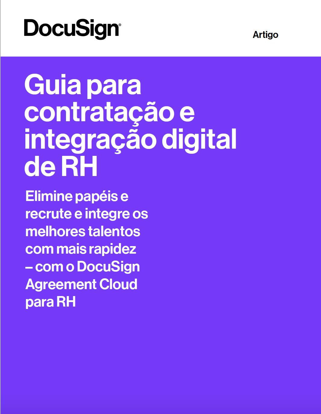 """Imagem da capa do eBook """"Guia para a contratação e integração digital de RH"""""""
