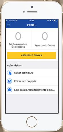 Aplicativo de assinatura eletrônica móvel do DocuSign para empresas