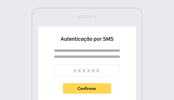 Captura de tela mostrando autenticação por SMS ou por ligação com DocuSign Identify