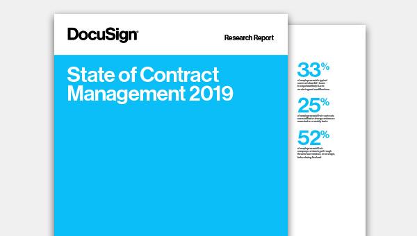 Baixe o relatório do estado de gerenciamento do ciclo de vida de contratos de 2019