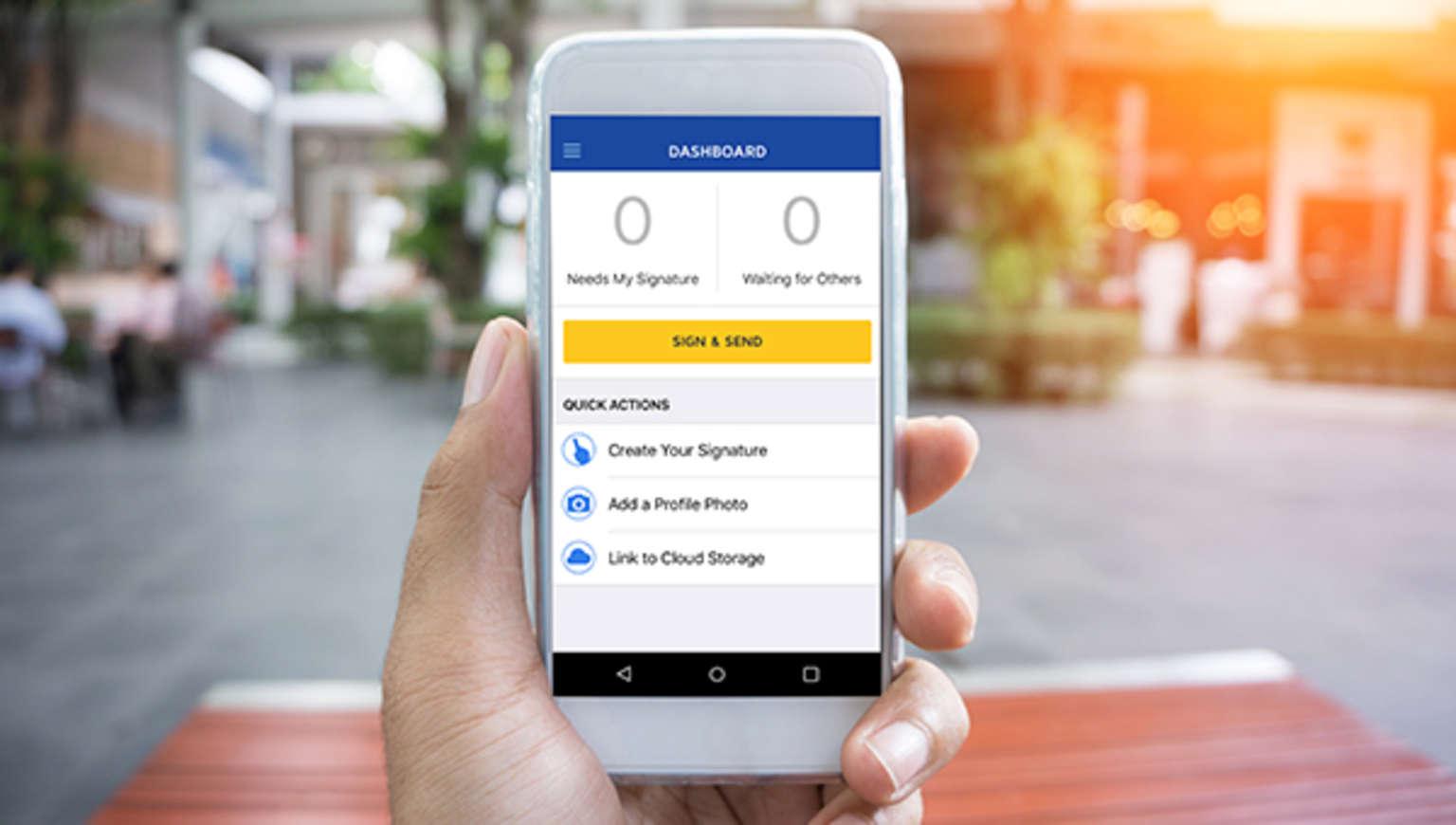 Try the DocuSign eSignature mobile app